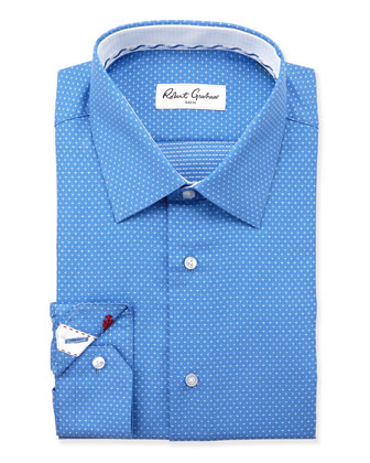 Clarence Swiss Dot Dress Shirt