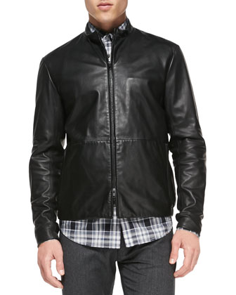 Lamb Leather Jacket, Black