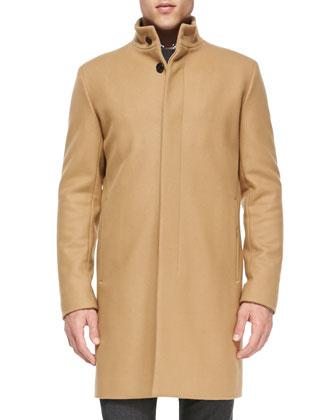 Belvin Wool-Blend Coat, Camel