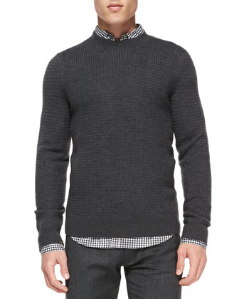 Merino Crewneck Sweater, Charcoal