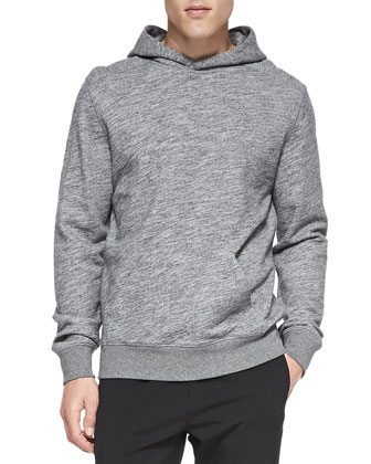 Cotton Pullover Hoodie, Grey