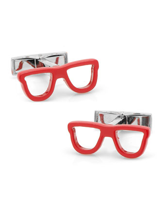 Cool Cut Shades Cuff Links, Red