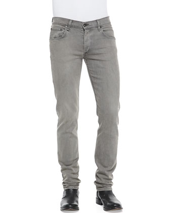 Slim Skinny Denim Jeans, Gray