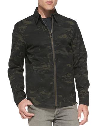 Maddox Camo-Print Shirt Jacket