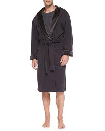 Brunswick Jersey Robe, Charcoal