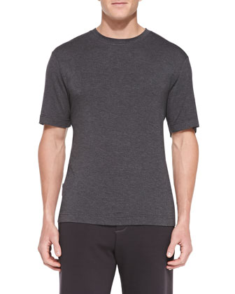 Maison Jersey Tee, Charcoal Heather