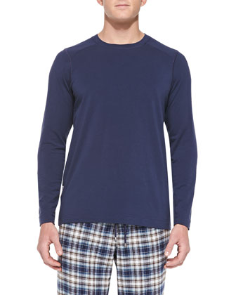 Fergus Cotton-Lyocell T-Shirt, Navy