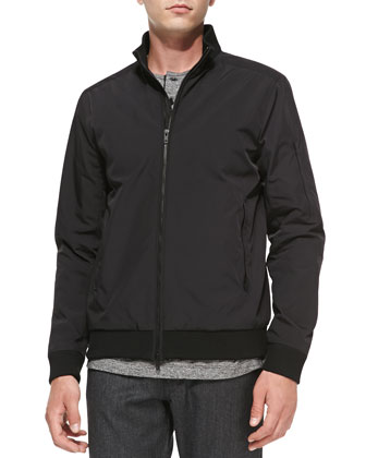 Tech Fabric Jacket, Black