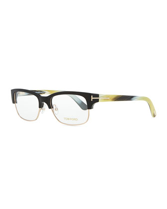Optical Wire-Frame Glasses, Black