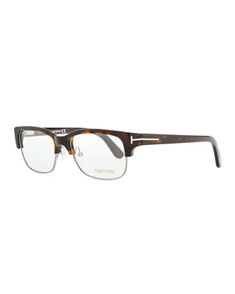 Optical Wire-Frame Glasses, Brown