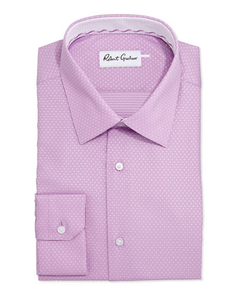 Clarence Pindot Dress Shirt, Mauve