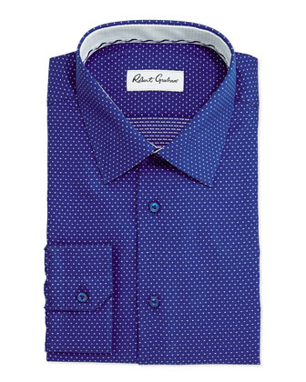 Clarence Pindot Dress Shirt, Navy