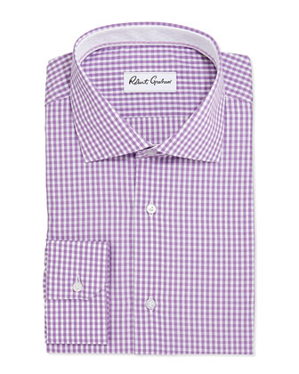Jaylon Check Jacquard Dress Shirt, Lavender