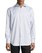 York Tartan Plaid Dress Shirt, Tan