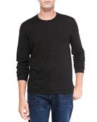 Superfine Cashmere Crewneck Sweater, Black