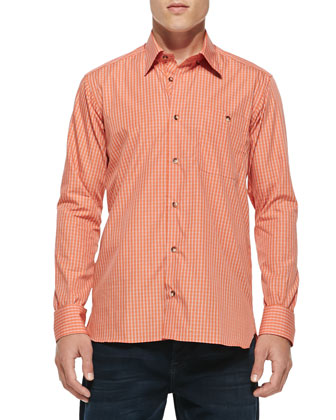 Lenny Check Long-Sleeve Shirt