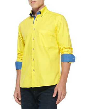 Crawford Contrast Shirt, Yellow