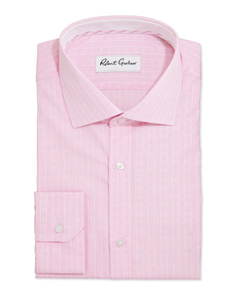 Lex Striped Jacquard Dress Shirt, Pink