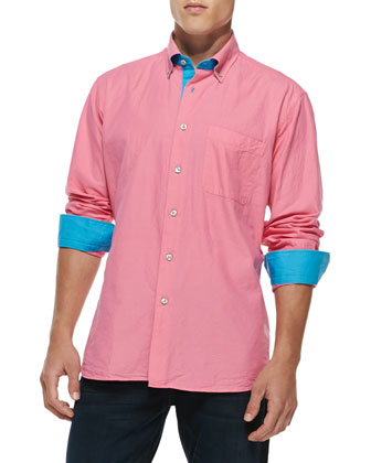 Crawford Contrast Shirt, Pink