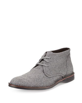 Hipster Wool Chukka Boot, Gray