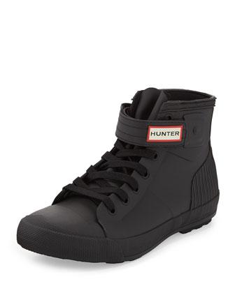 Original Rubber High-Top Sneaker, Black