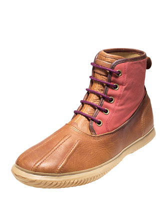 Trenton Weather Lace-Up Boot, Cognac