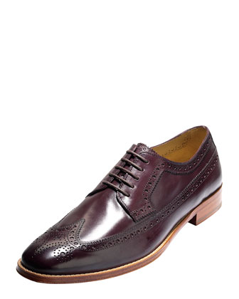 Lionel Long Wingtip Oxford, Dark Brown