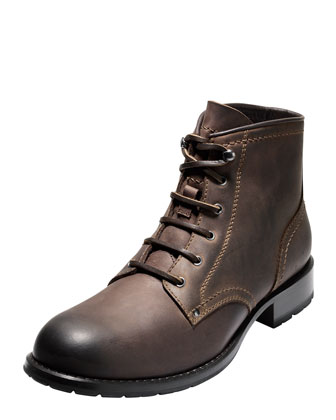 Wayne Leather Lug Boot