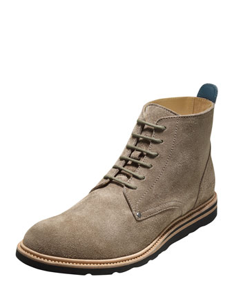 Christy Suede Lace-Up Boot