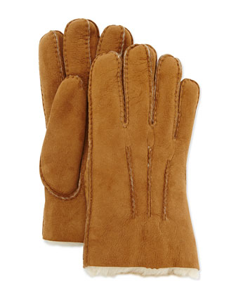 Gauge Point Shearling Gloves