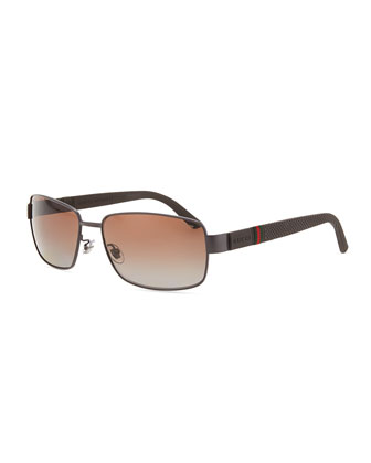 Steel Square Sunglasses, Gray
