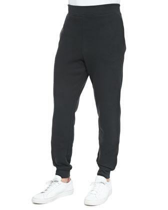 Fleece Sweatpants, Green Gray