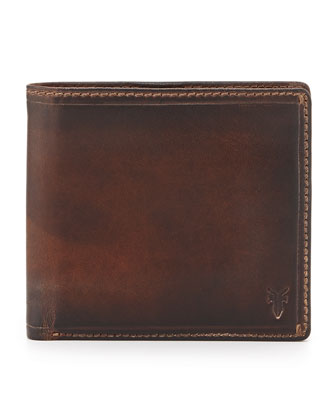 Logan Leather Bi-Fold Wallet, Dark Brown
