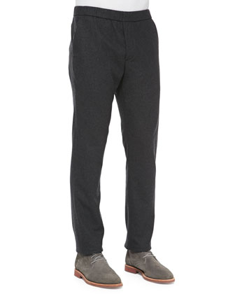 Pleated Jogger Pants, Charcoal
