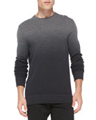 Dip-Dye Crewneck Sweater, Gray