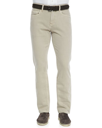 5-Pocket Denim Jeans, Light Nougat