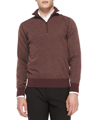Cashmere Roadster Half-Zip Sweater