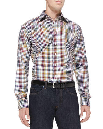 Multi-Check Sport Shirt