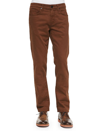 Kane Straight-Leg Saddle Jeans