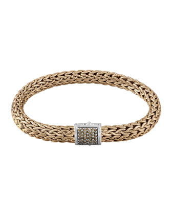 Men's Classic Chain Diamond Pave Chain Bracelet
