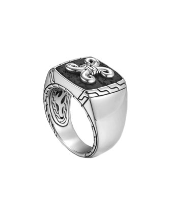 Men's Batu Dayak Signet Ring