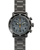 42mm Runwell Sport Chronograph Watch, Gunmetal