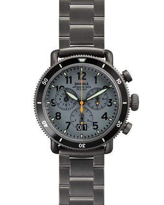 42mm Runwell Sport Chronograph Watch, Gunmetal