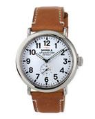 41mm Runwell Men's Watch, Dark Brown/Cream