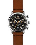41mm Runwell Chrono Watch, Tan/Black