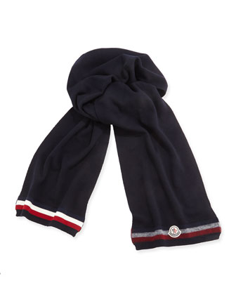 Cashmere Striped Reversible Scarf