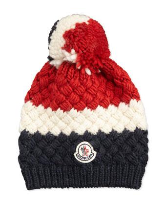 Cashmere Chunky Cable Knit Ski Cap, Multi