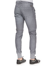 Corduroy Runner Pants, Light Gray