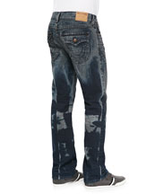 Ricky Oil Beat Straight-Leg Jeans