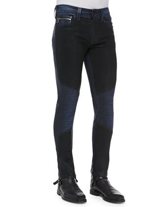 Moto Jacket & Rocco 2-Tone Coated Moto Jeans